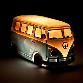 Retro Combi Campervan Table Lamp - - mdi - Yellow Octopus