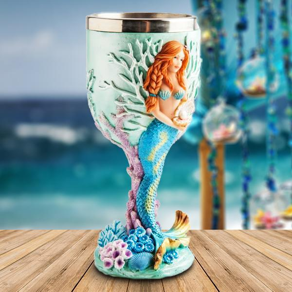 mdi Sculpted Mermaid Goblet