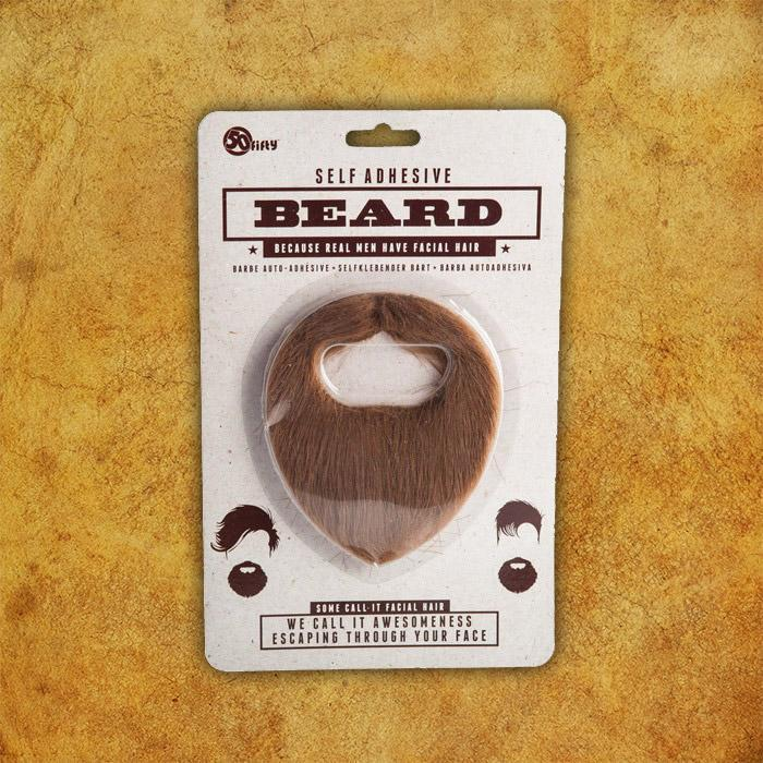 Self-Adhesive Beard - - mdi - Yellow Octopus