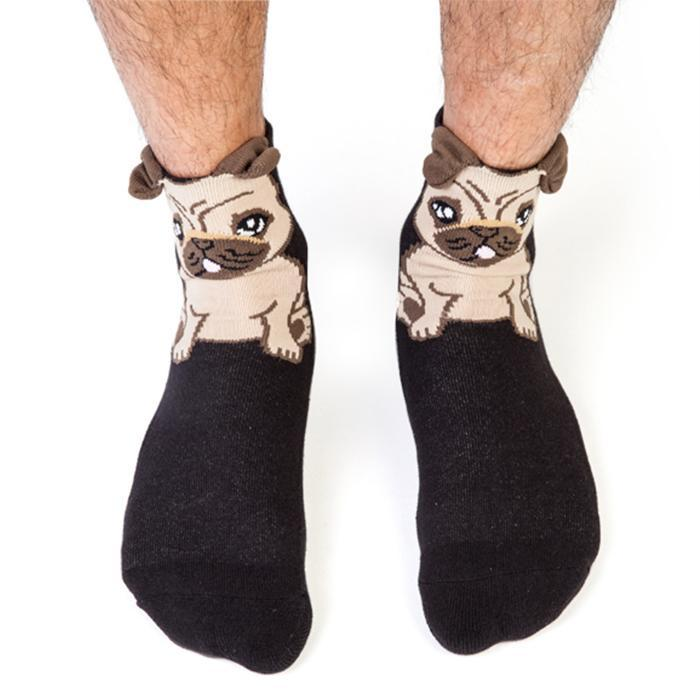 Silly Soles Ruff Day Pug Socks - - mdi - Yellow Octopus