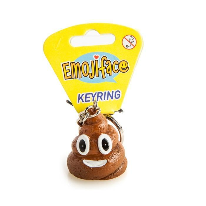 Smiling Poo Keyring - - mdi - Yellow Octopus