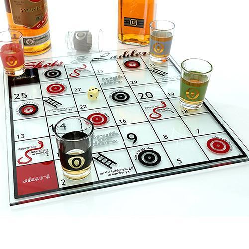Snakes & Ladders Drinking Game - - mdi - Yellow Octopus