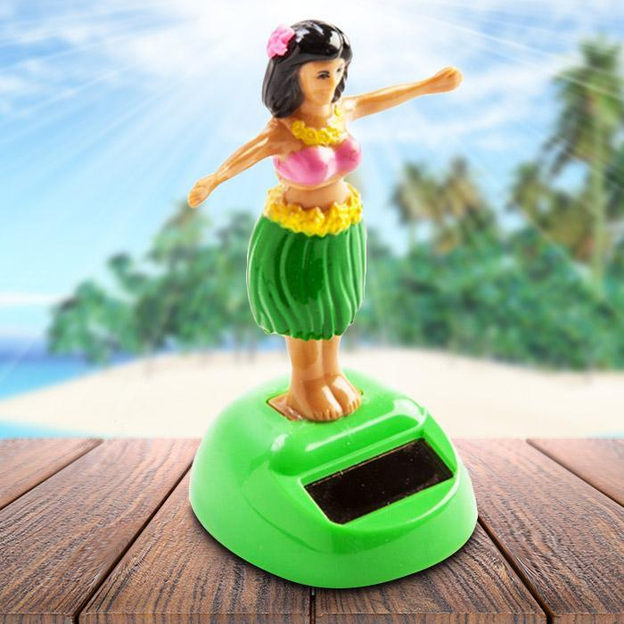 Solar Powered Dashboard Dancing Hula Girl - - mdi - Yellow Octopus