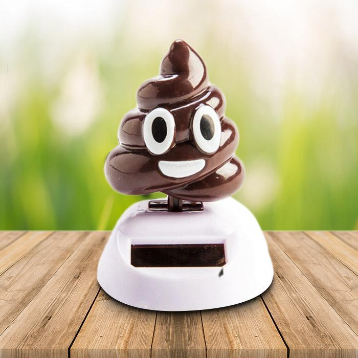 mdi Solar Powered Dashboard Dancing Poo Emoji