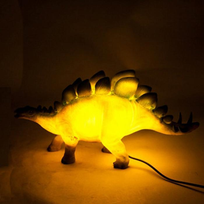 mdi Stegosaurus Dinosaur LED Lamp - Stegosaurus Dinosaur LED Night Light Table Lamp Dino Desk Night