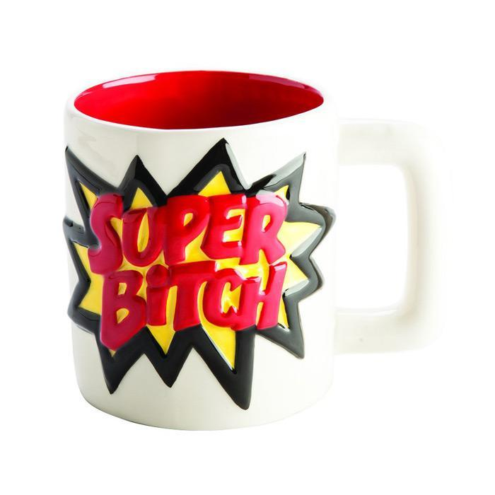 Super Bitch Mug - - mdi - Yellow Octopus