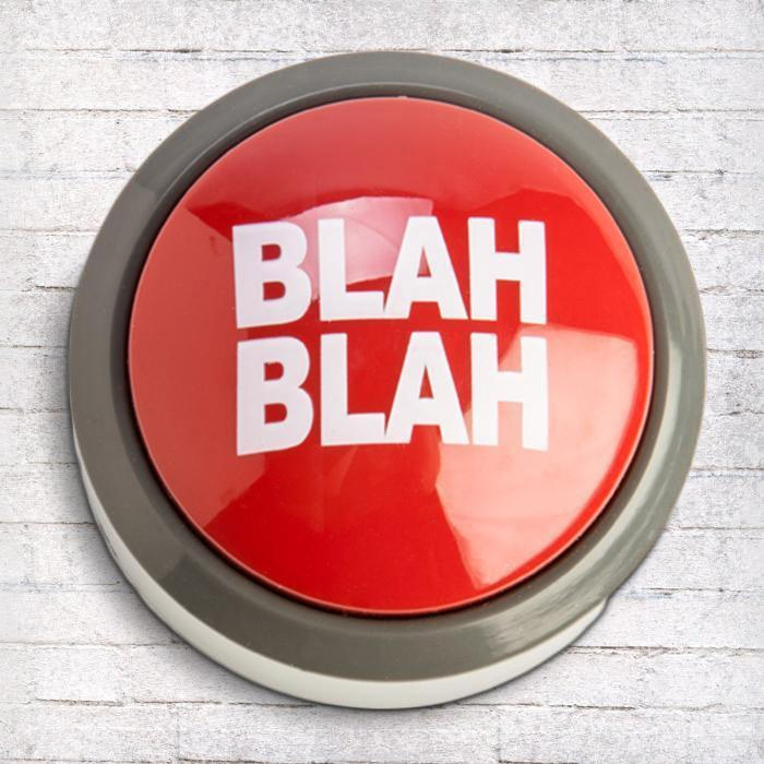 The Blah Blah Blah Button | Father's Day gifts for your ex | Beanstalk Single Mum