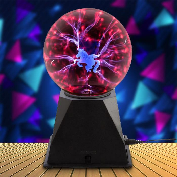 Unicorn Plasma Ball Night Light - - MDI - Yellow Octopus
