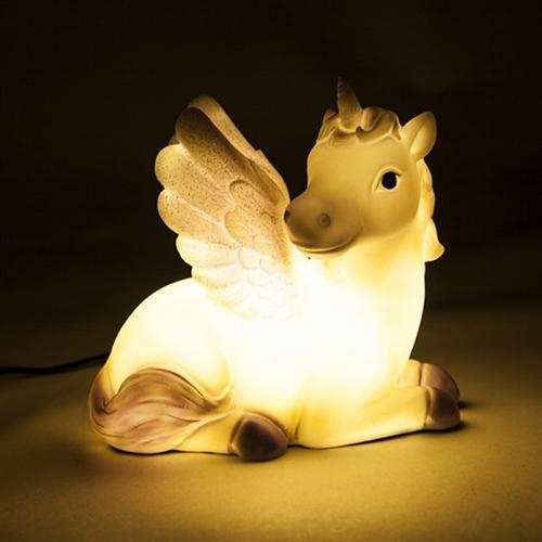 Unicorn Table Lamp - - mdi - Yellow Octopus