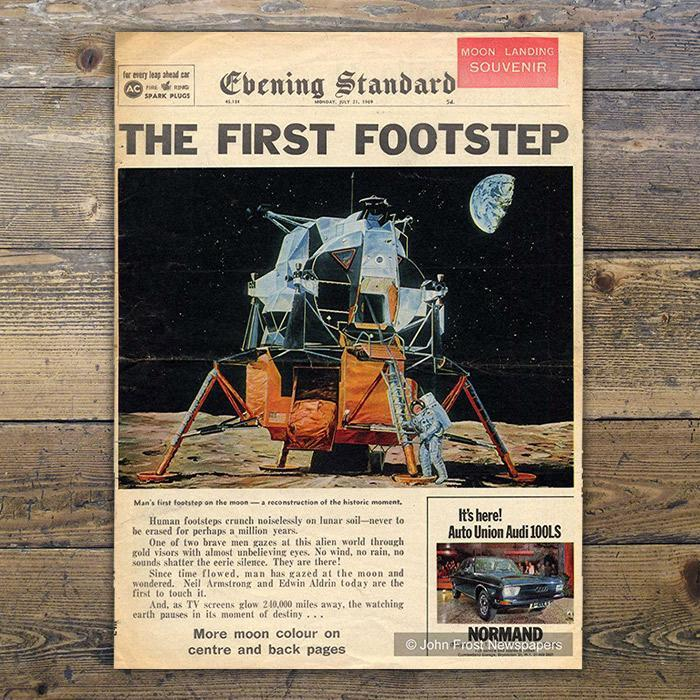 Moon Landing Replica Newspaper - - Memorabilia Pack Company Ltd - Yellow Octopus