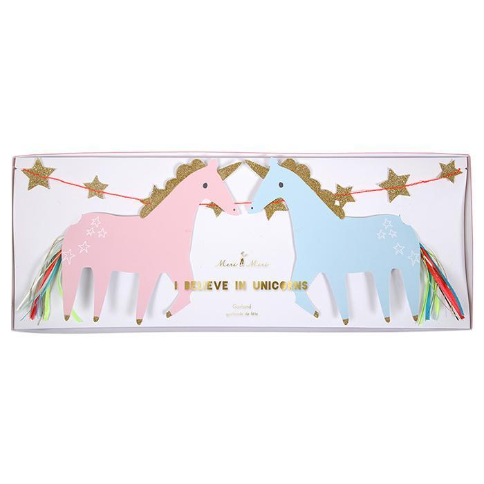I Believe In Unicorns Party Banner - - Meri Meri - Yellow Octopus