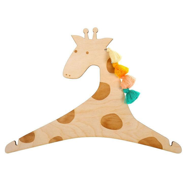 Pack of 2 Kids Giraffe Tassel Coat Hangers - - Meri Meri - Yellow Octopus