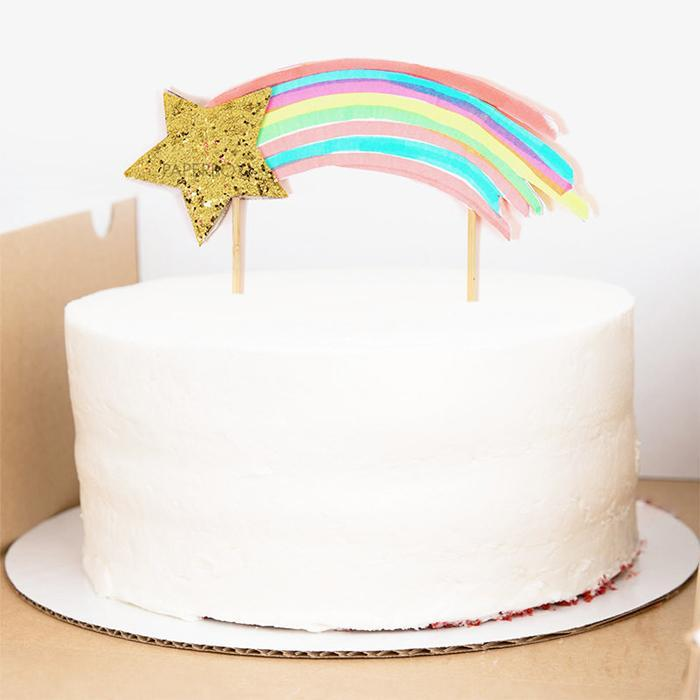 Shooting Star Cake Topper - - Meri Meri - Yellow Octopus