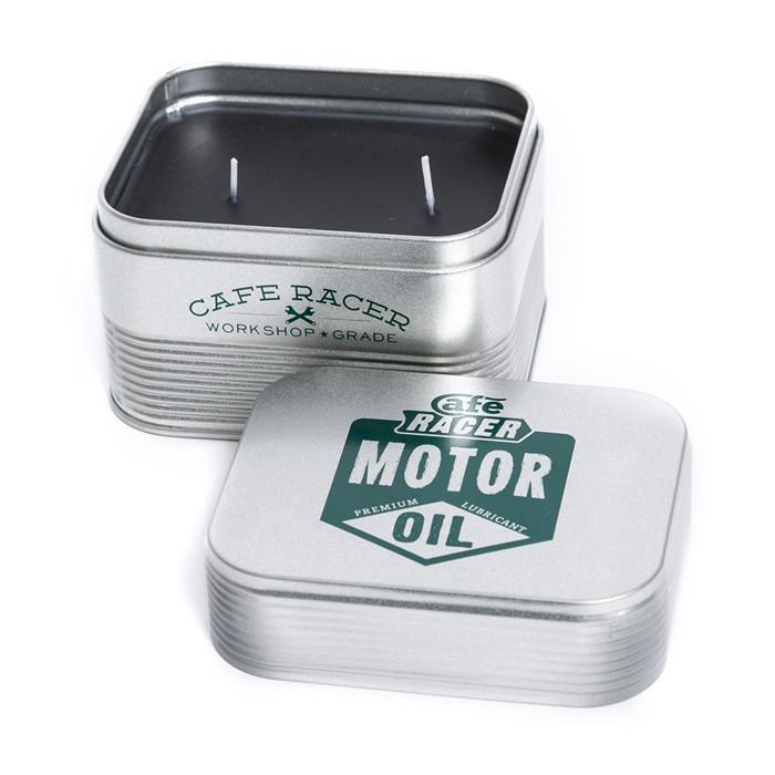 Cafe Racer Gentleman's Candle in a Tin - - Mr & Mrs. Jones - Yellow Octopus