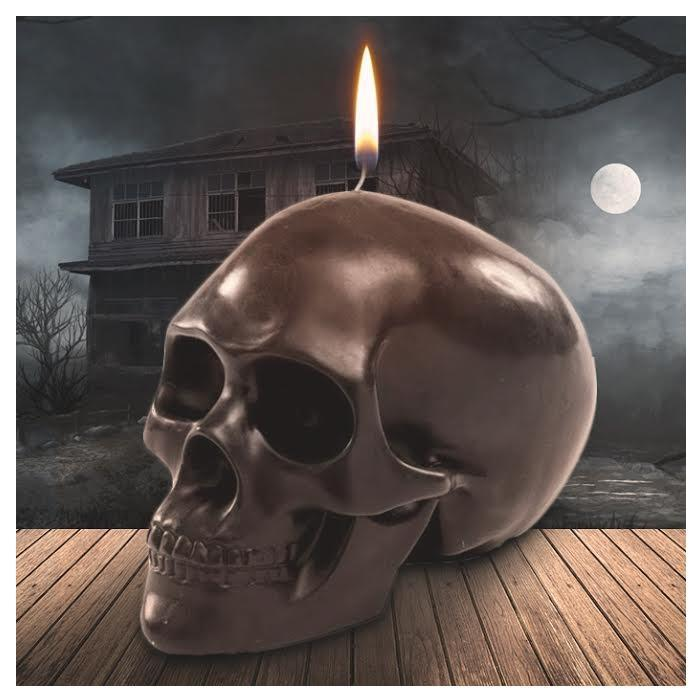Mr & Mrs. Jones Day of the Dead Skull Candle Large