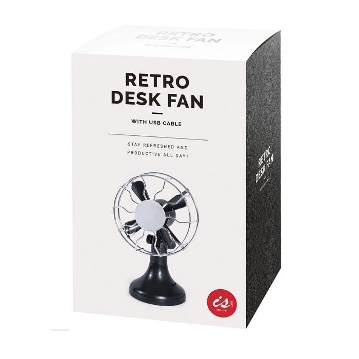 Mini Retro USB Desk Fan - - IS - Yellow Octopus