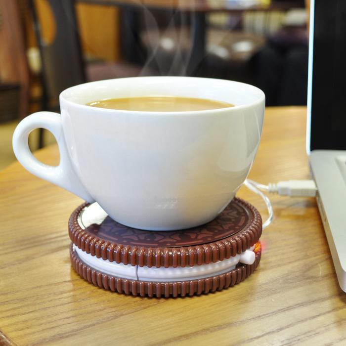 Hot Cookie - USB Coffee Cup Warmer - - Mustard - Yellow Octopus