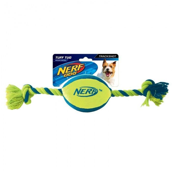 Nerf Dog Medium Football Tug Toy - - Nerf - Yellow Octopus