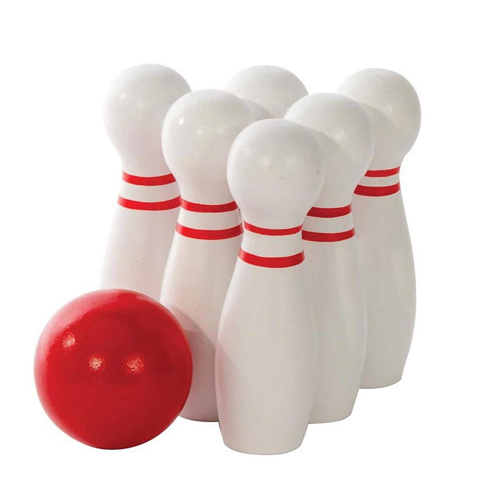 Classic Wooden Tabletop Bowling Set - - IS - Yellow Octopus