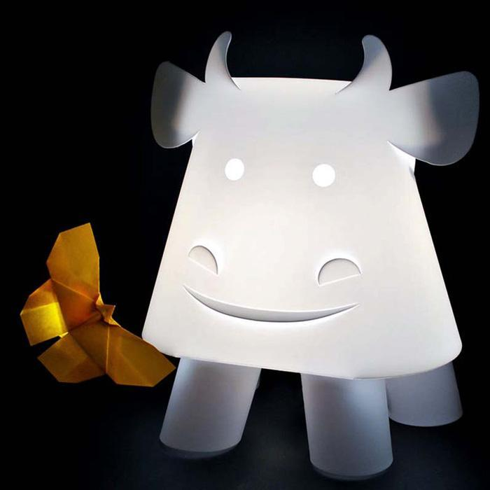 Kids Cow LED Lamp | zzzoolight kids night light white bedroom ...