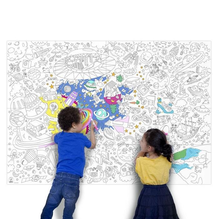 OMY Design & Play OMY Huge Cosmos Galaxy Colouring Poster - 115 x 80cm