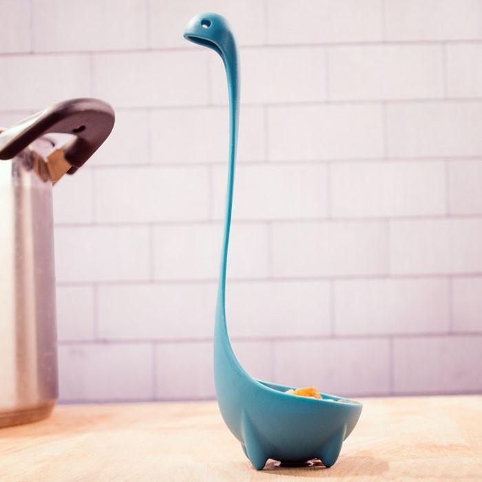 Nessie the Loch Ness Kitchen Ladle | Ototo - - OTOTO - Yellow Octopus