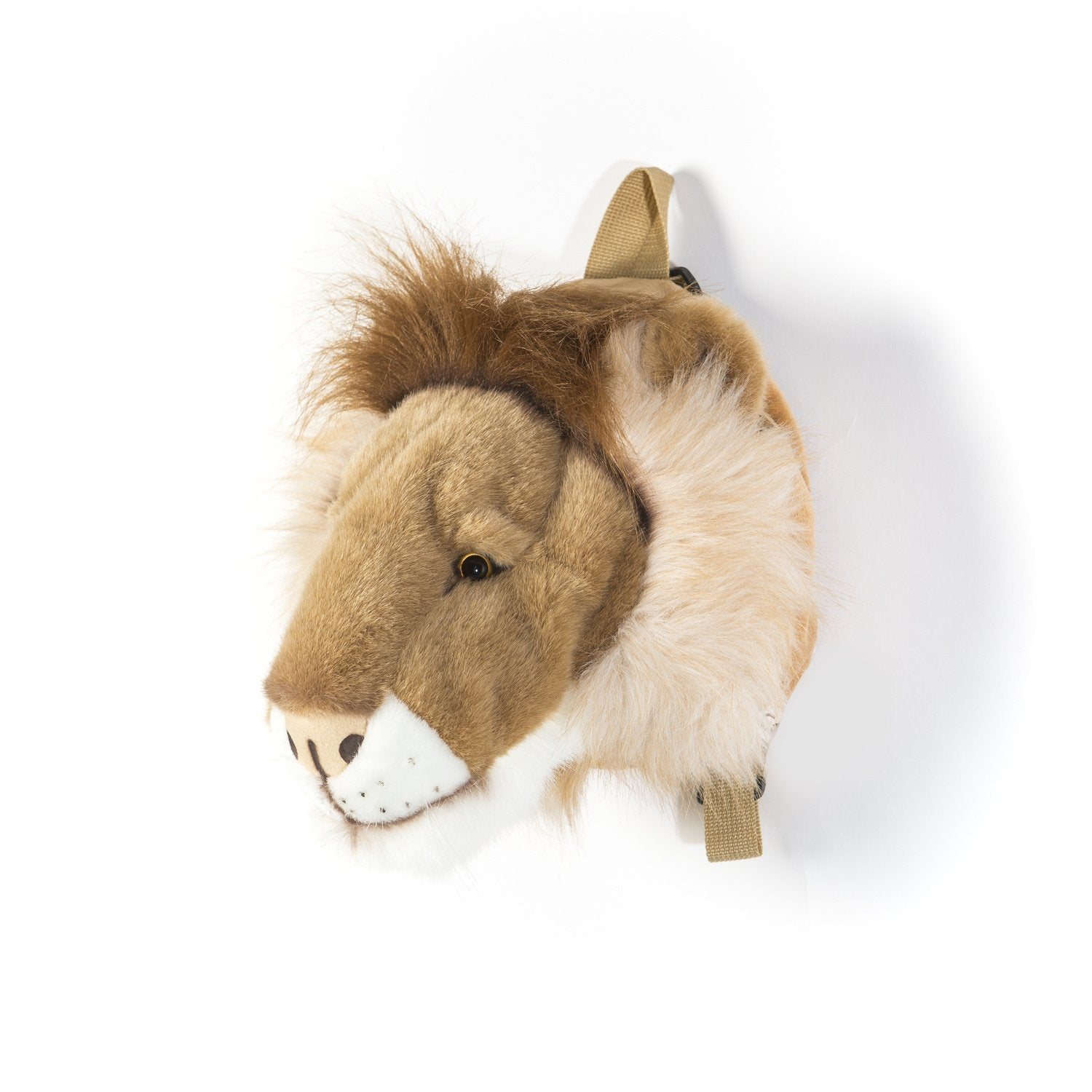 Outliving Lion's Head Plush Backpack