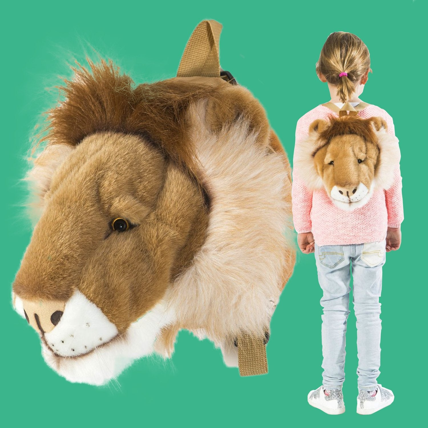 Wild & Soft Plush Lion's Head Backpack