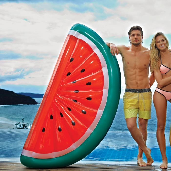 Outliving SunnyLife Giant Inflatable Watermelon Pool Raft Float