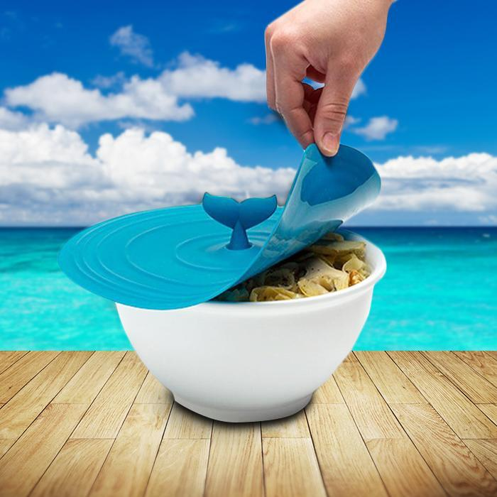 Moby Whale Silicone Pot Lid - - Peleg Design - Yellow Octopus
