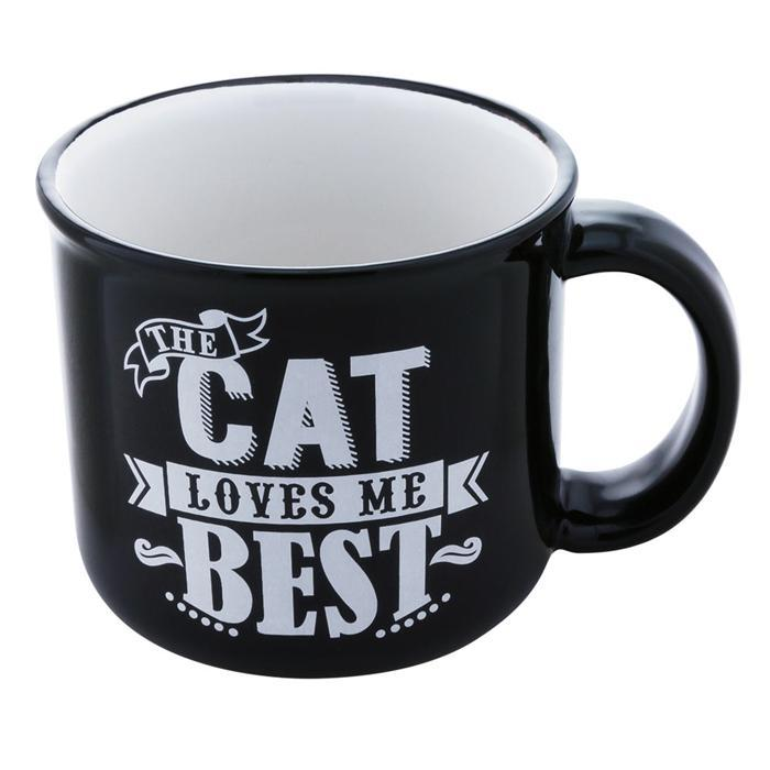 'The Cat Loves Me Best' Mug - - PetRageous Designs - Yellow Octopus