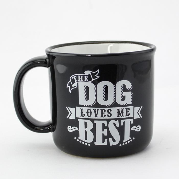 'The Dog Loves Me Best' Mug - - PetRageous Designs - Yellow Octopus