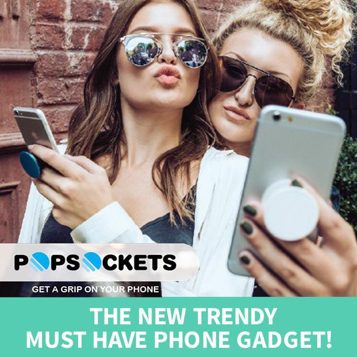 PopSockets: Expanding Phone Stand & Grip! - Black - PopSockets - Yellow Octopus