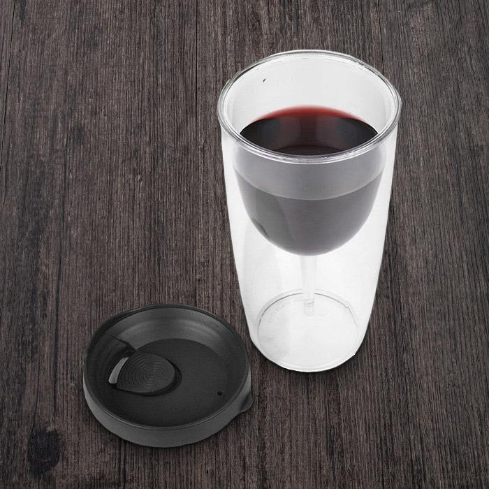 Wine Spill-Proof Sippy Cup - - Porta Vino - Yellow Octopus