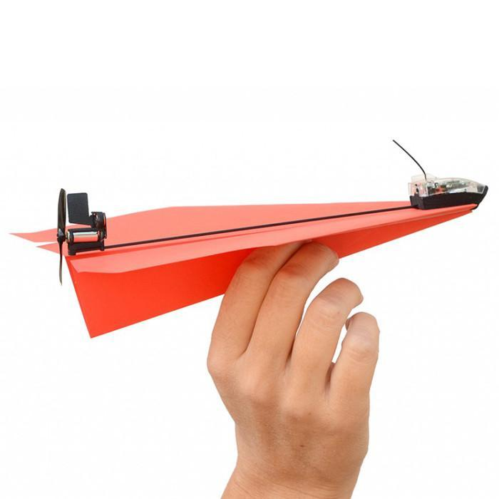 PowerUp 3.0 Bluetooth Controlled Paper Aeroplane for iOS & Android - - PowerUp - Yellow Octopus