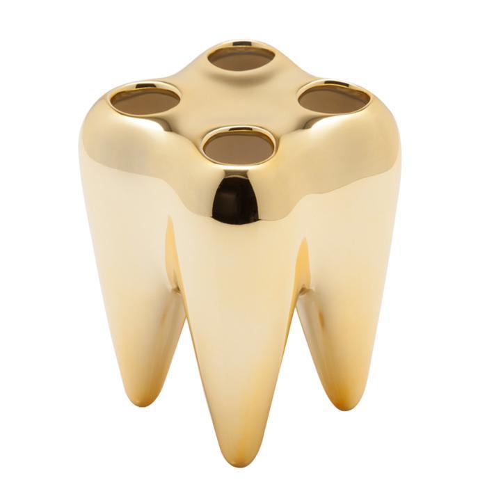 Tooth Toothbrush Holder | Propaganda - Gold - Propaganda - Yellow Octopus