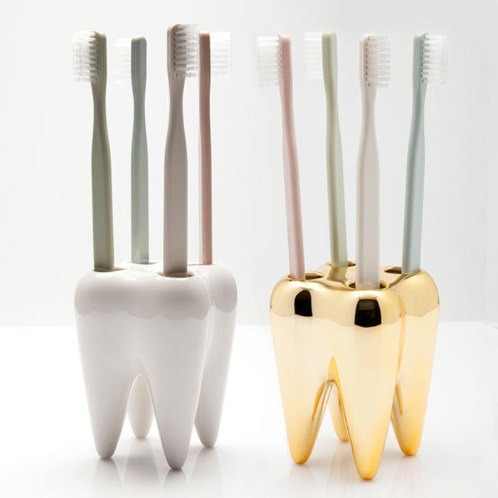 Tooth Toothbrush Holder | Propaganda - White - Propaganda - Yellow Octopus