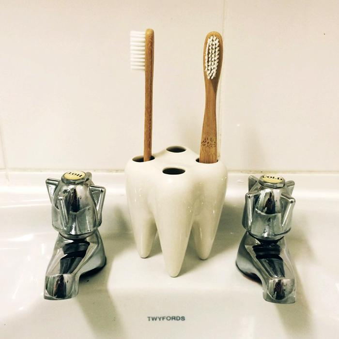 Tooth toothbrush holder propaganda bathroom tooth brush for Decor zippay
