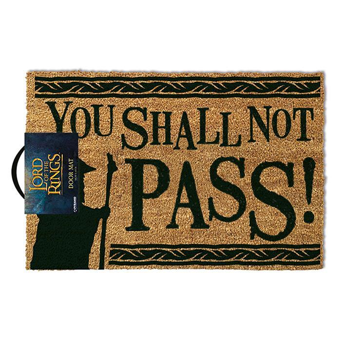 Official Lord Of The Rings 'You Shall Not Pass' Door Mat - - Pyramid - Yellow Octopus