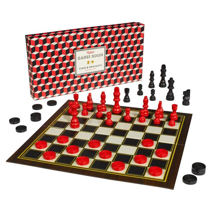 Ridley's Ridley's 2-in-1 Chess & Checkers Board Game Set