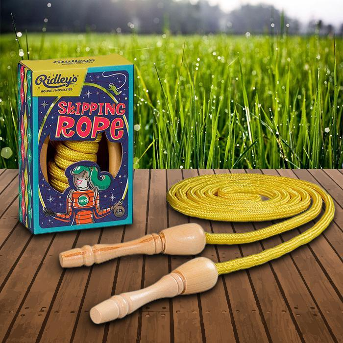 Ridley's Retro Skipping Rope - - Ridley's - Yellow Octopus