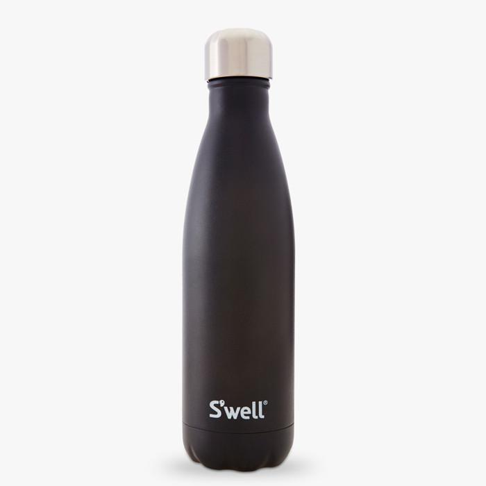 S'well Insulated Stainless Steel Bottle - 500ml Stone Onyx (black) - S'well - Yellow Octopus