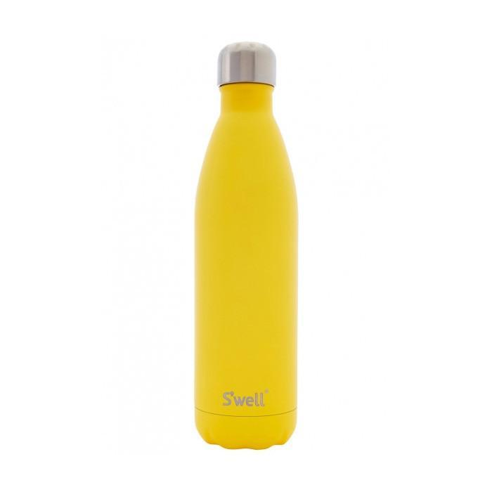 S'well Insulated Stainless Steel Bottle | 750ml Satin Yellow Zinc - - S'well - Yellow Octopus