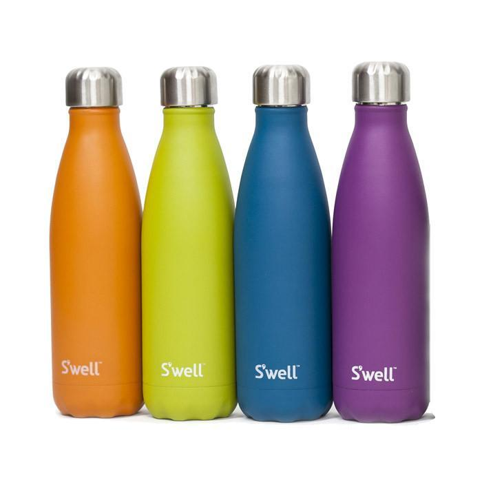 S'well Insulated Stainless Steel Bottle - 500ml Silver Lining - S'well - Yellow Octopus