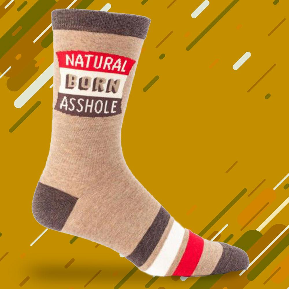 Natural Born Assh#le Mens Socks