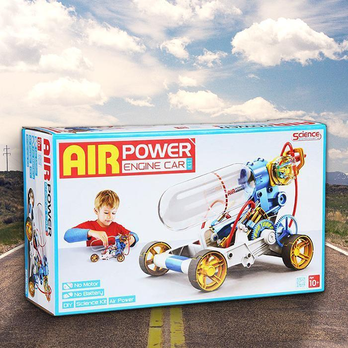 Air Powered Engine Car For Kids - - Science Discovery - Yellow Octopus
