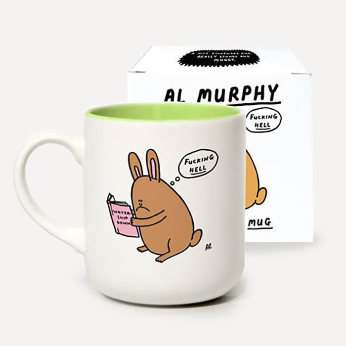 Al Murphy Watership Down(er) Stoneware Mug - - Scion - Yellow Octopus