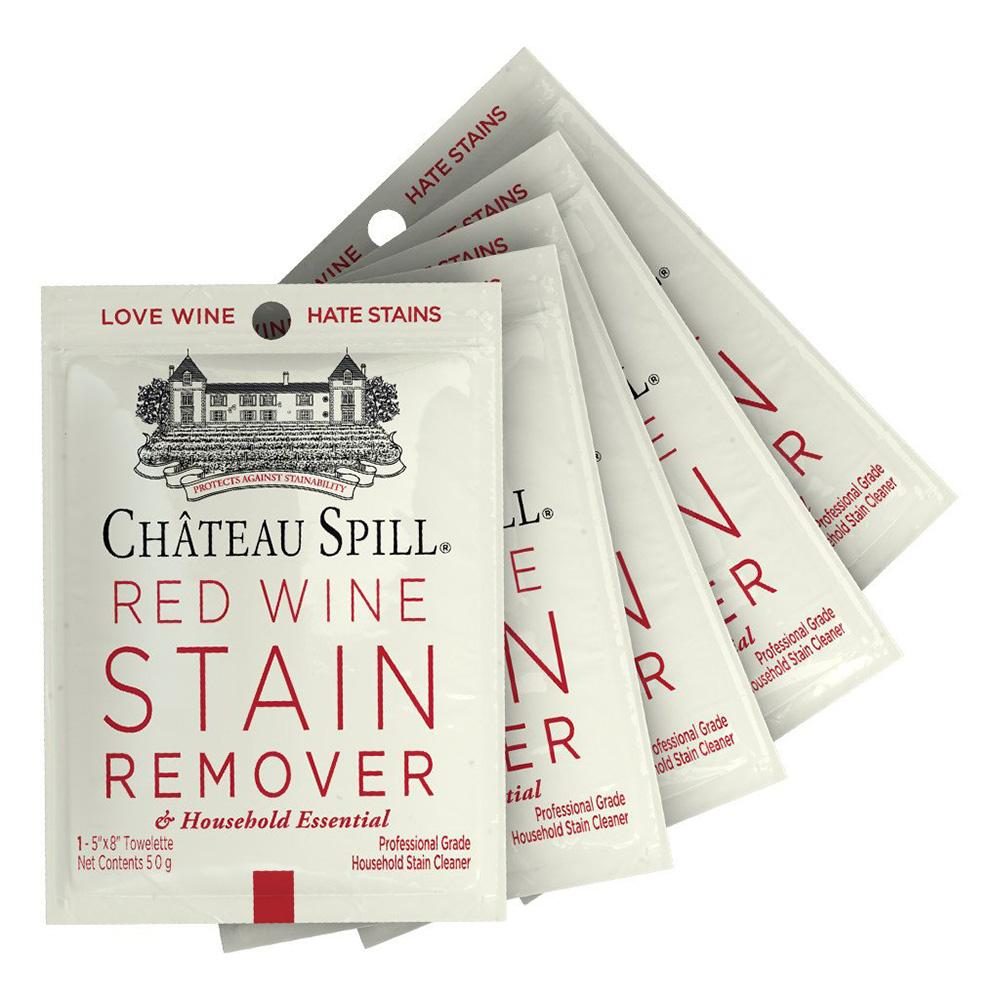 Red Wine Stain Remover Wet Wipes | Pack of 5 | Chateau Spill - - IS - Yellow Octopus