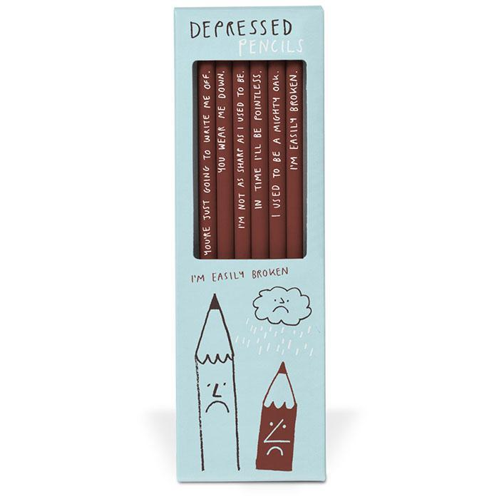 Depressed Pencils - - Sharp&Blunt - Yellow Octopus