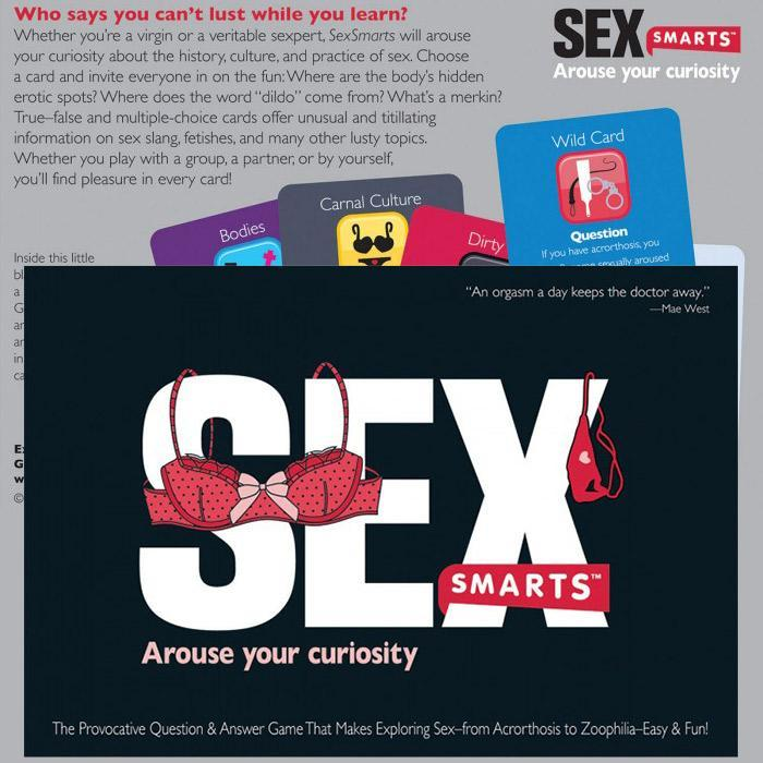 Sex Smarts - The Provocative Q&A Game - - SmartsCo - Yellow Octopus